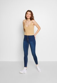 Missguided - VICE EXPOSED ZIP BUTTON DETAIL - Jeans Skinny - new indigo - 1