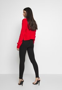 Missguided - VICE EXPOSED ZIP BUTTON DETAIL - Jeans Skinny Fit - black - 2