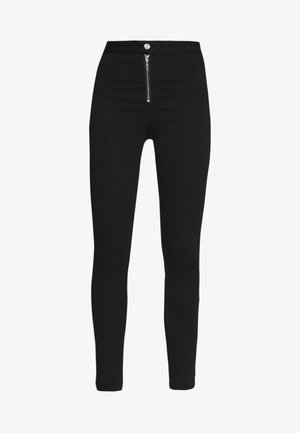 VICE EXPOSED ZIP BUTTON DETAIL - Skinny džíny - black