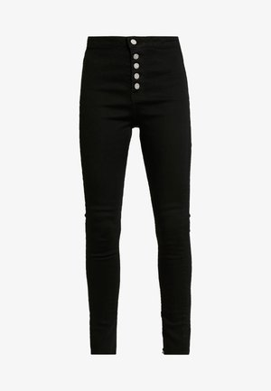 VICE BUTTON UP - Jeans Skinny Fit - black