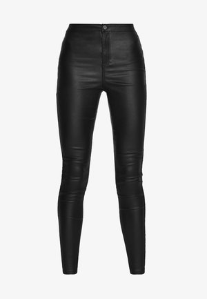 VICE HIGH WAISTED COATED - Jeans Skinny - black