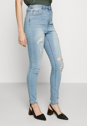 SINNER HIGHWAISTED DISTRESSED BROKEN  - Jeans Skinny Fit - light wash