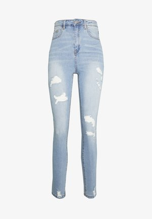 SINNER HIGHWAISTED DISTRESSED BROKEN  - Skinny-Farkut - light wash