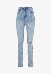 Missguided - SINNER HIGHWAISTED KNEE SLASH - Jeans Skinny Fit - soft acid wash - 3