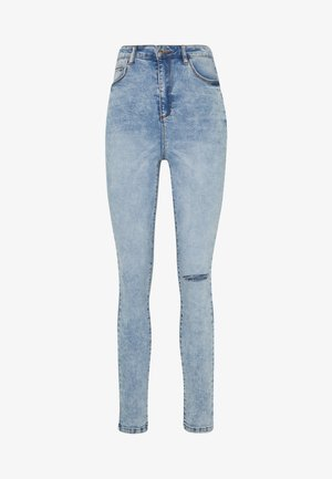 SINNER HIGHWAISTED KNEE SLASH - Jeans Skinny Fit - soft acid wash