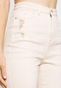 Missguided - SINNER HIGH WAISTED MINIMAL DISTRESS - Jeans Skinny - ecru - 5