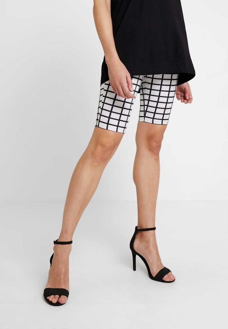 Missguided - ACTIVE GRID PRINT CYCLING - Shorts - white