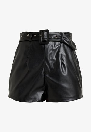 BELT DETAIL - Shorts - black
