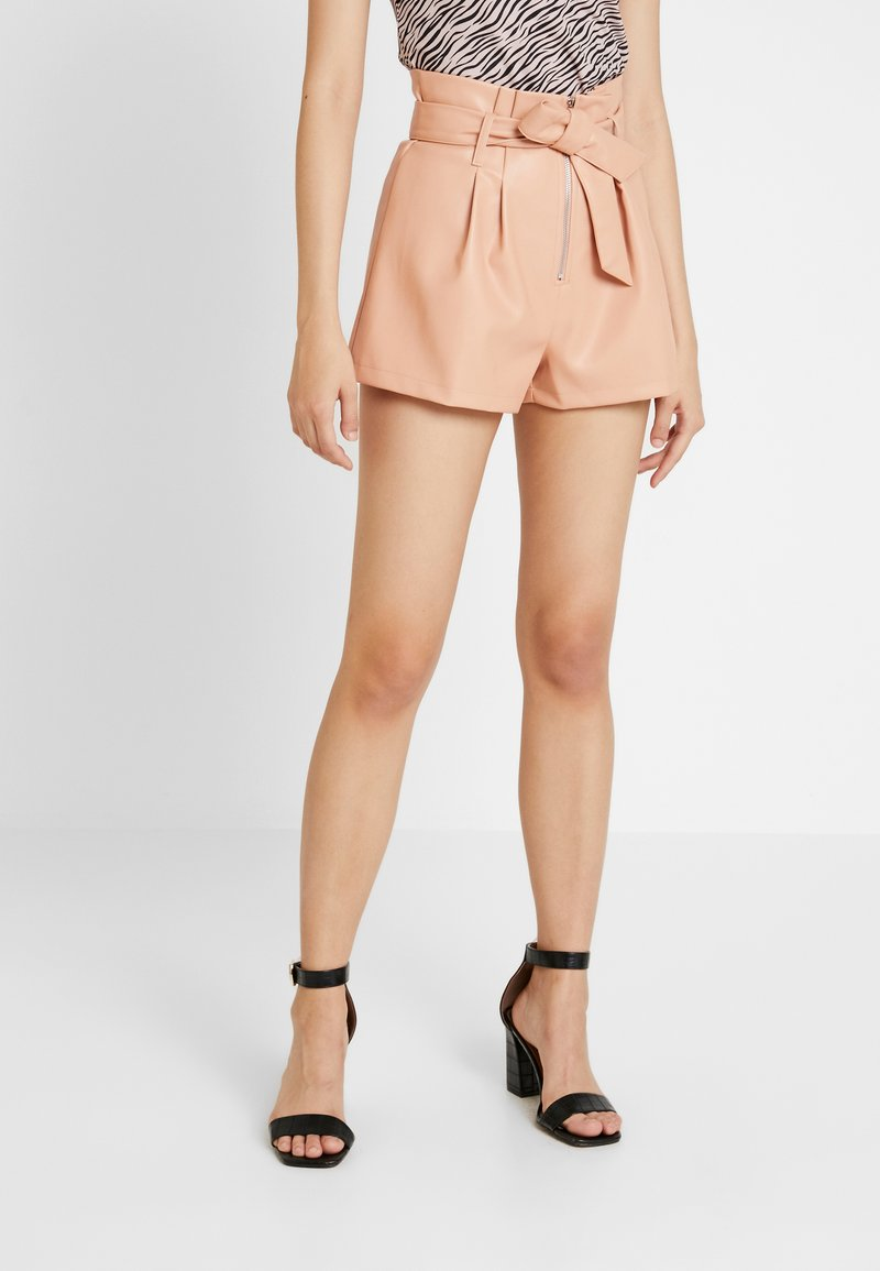 Missguided - PAPERBAG WAIST  - Shorts - peach