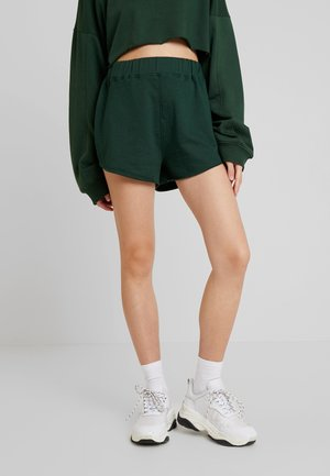 HIGH WAISTED RAW HEM RUNNER - Verryttelyhousut - green