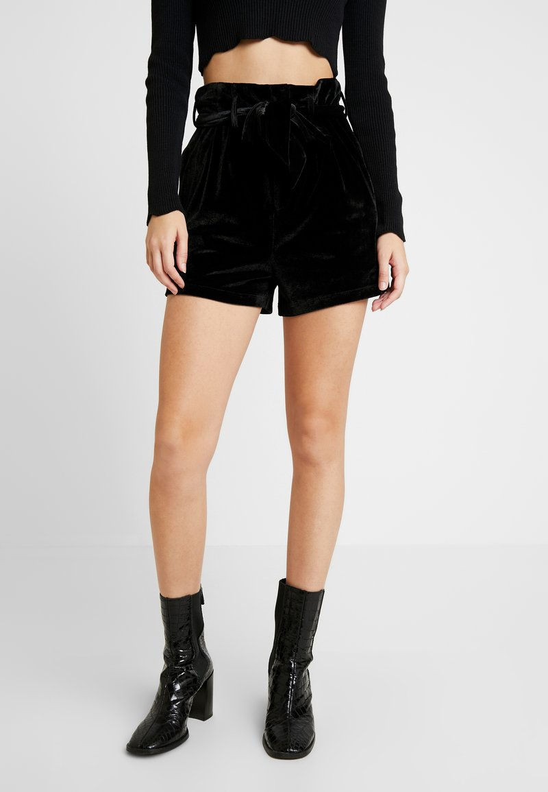 Missguided - BELTED  - Shorts - black