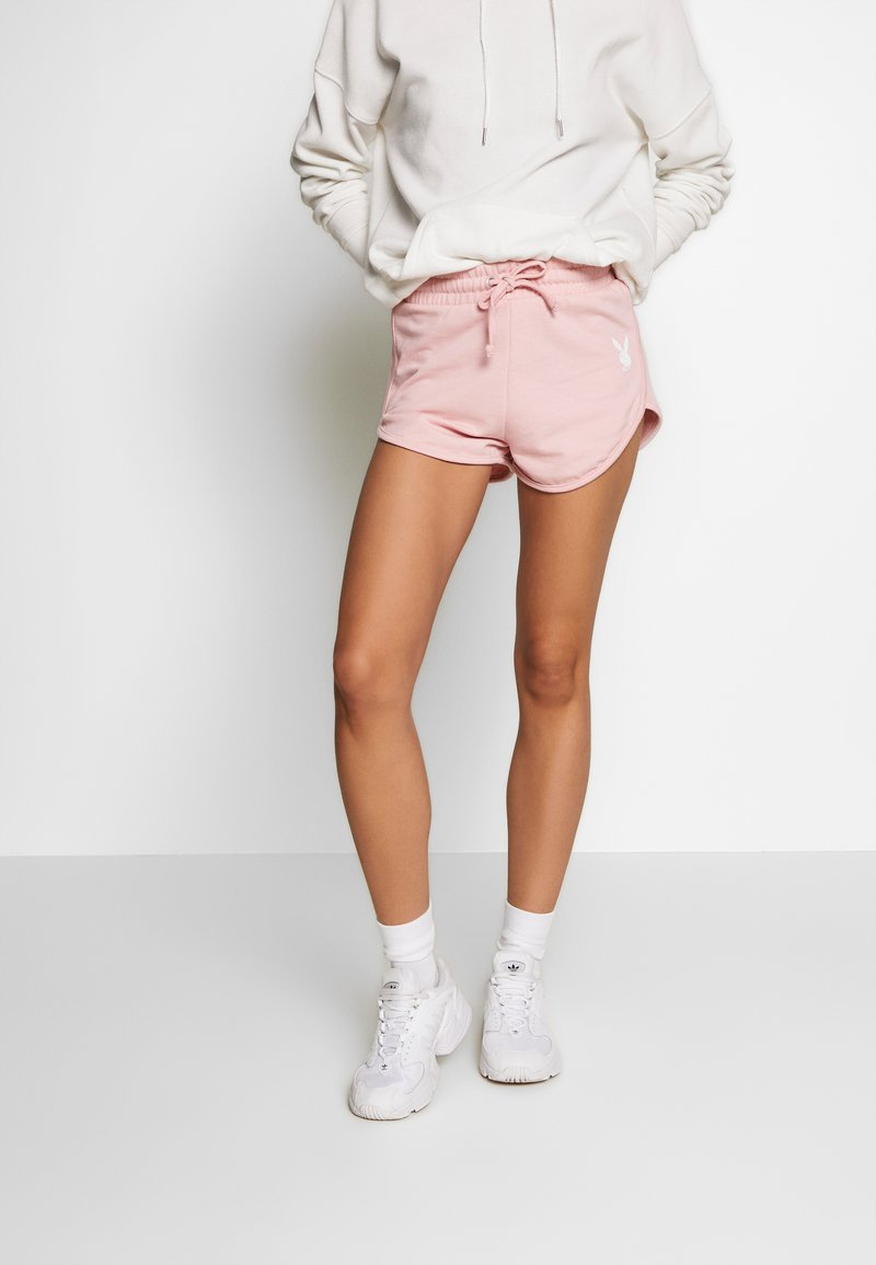 Missguided - PLAYBOY LOUNGE RUNNER  - Kraťasy - pink