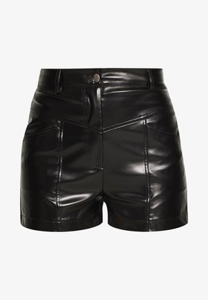 STITCH DETAIL - Shorts - black