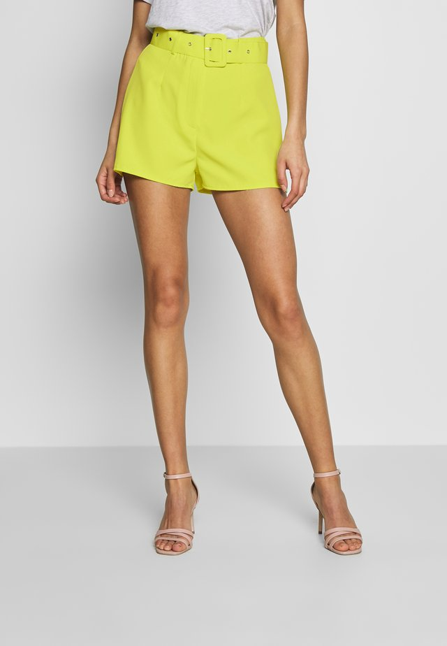 BELTED  - Shorts - lime