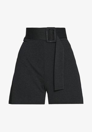 SELF BELT TAILORED - Shorts - black