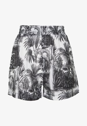 LEAF PRINT HIGH WAISTED  - Short - white