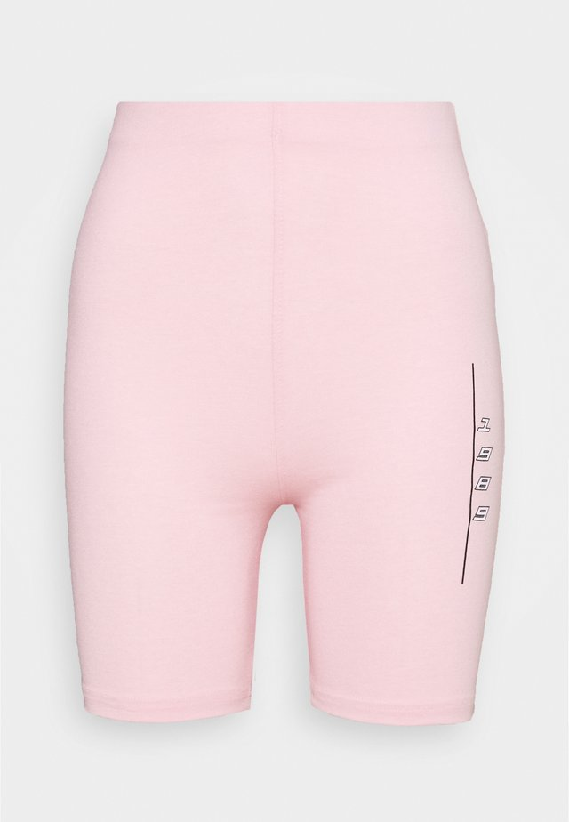 SLOGAN CYCLE SHORTS CO-ORD - Shorts - pink