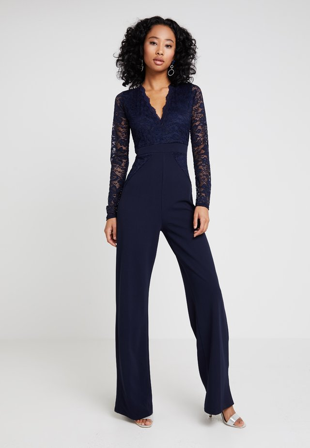 BRIDESMAID LACE TOP JUMPSUIT - Overall / Jumpsuit /Buksedragter - navy