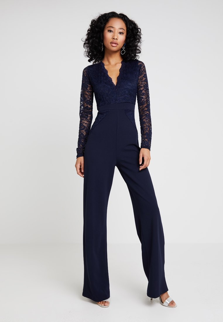 Missguided - BRIDESMAID LACE TOP JUMPSUIT - Combinaison - navy