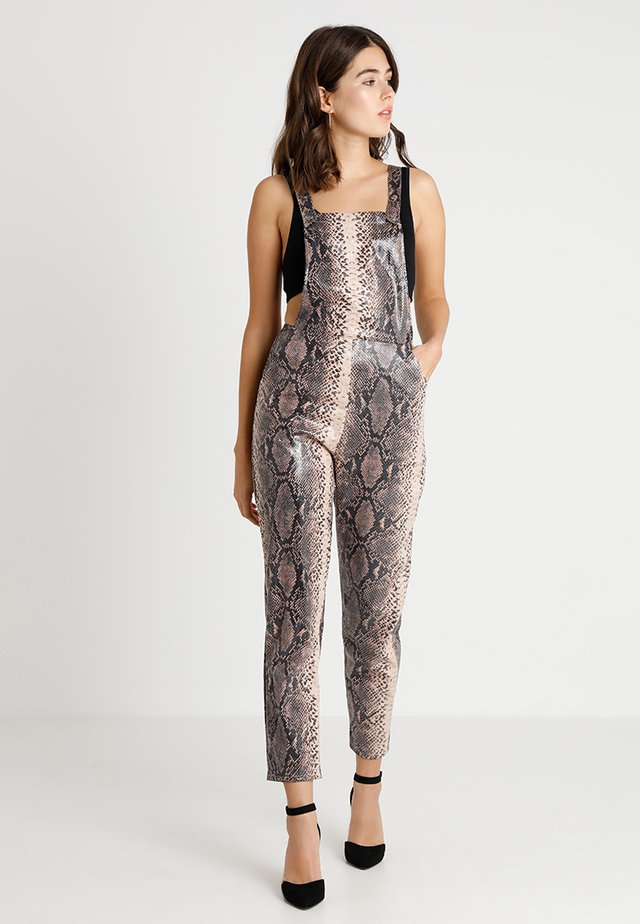 ANIMAL SNAKE DUNAGREE - Dungarees - brown