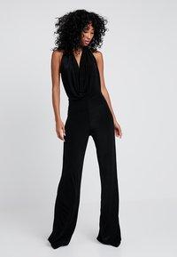 Missguided - SLINKY HALTER COWL  - Tuta jumpsuit - black - 0