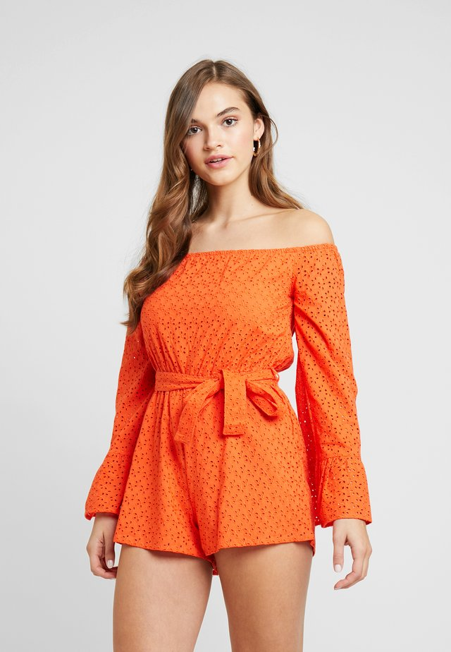 BRODERIE FLARED SLEEVE - Jumpsuit - orange