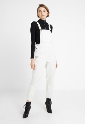 FRONT POCKET DUNGAREES - Jumpsuit - white