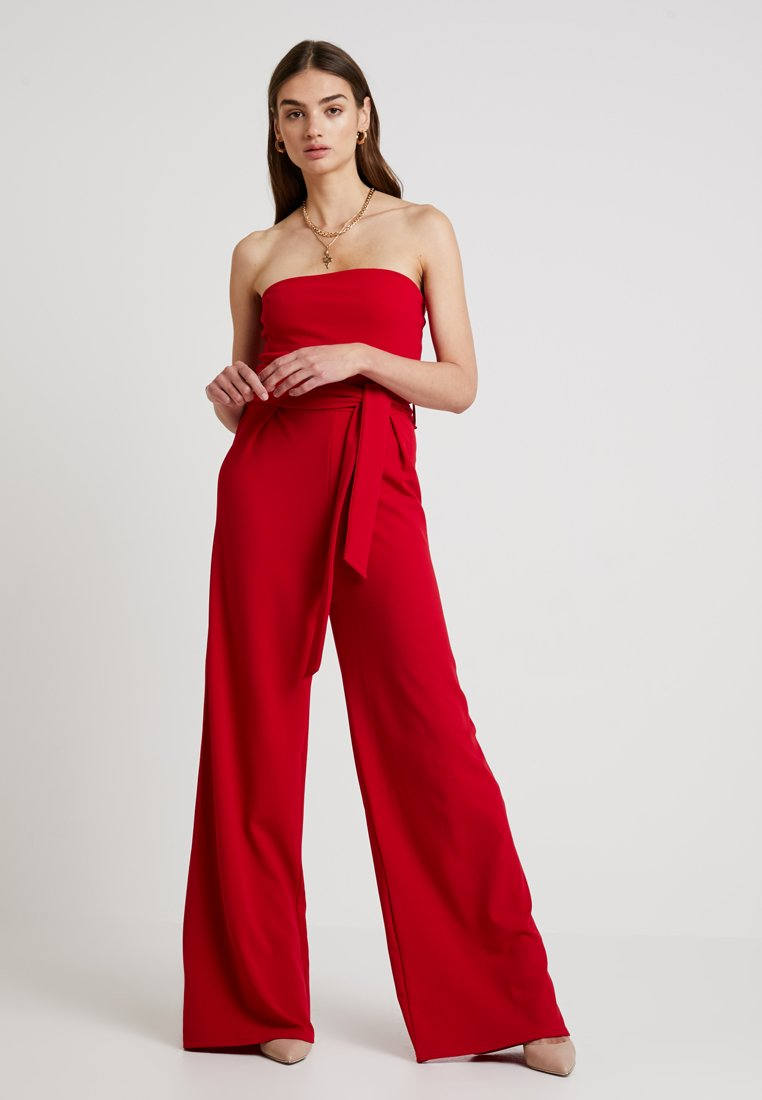 Missguided - BANDEAU WIDELEG - Overall / Jumpsuit /Buksedragter - red