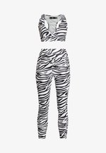 ACTIVE ZEBRA PRINT FULL LENGTH SET - Legging - white