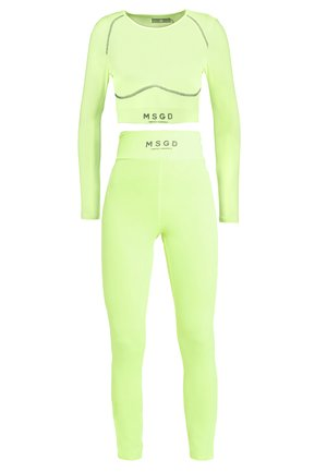 LONG SLEEVE ACTIVE - Legging - lime green