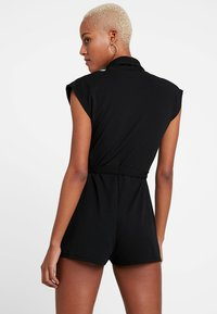 Missguided - LAPEL TIE DETAIL - Tuta jumpsuit - black - 3