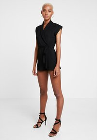 Missguided - LAPEL TIE DETAIL - Tuta jumpsuit - black - 2