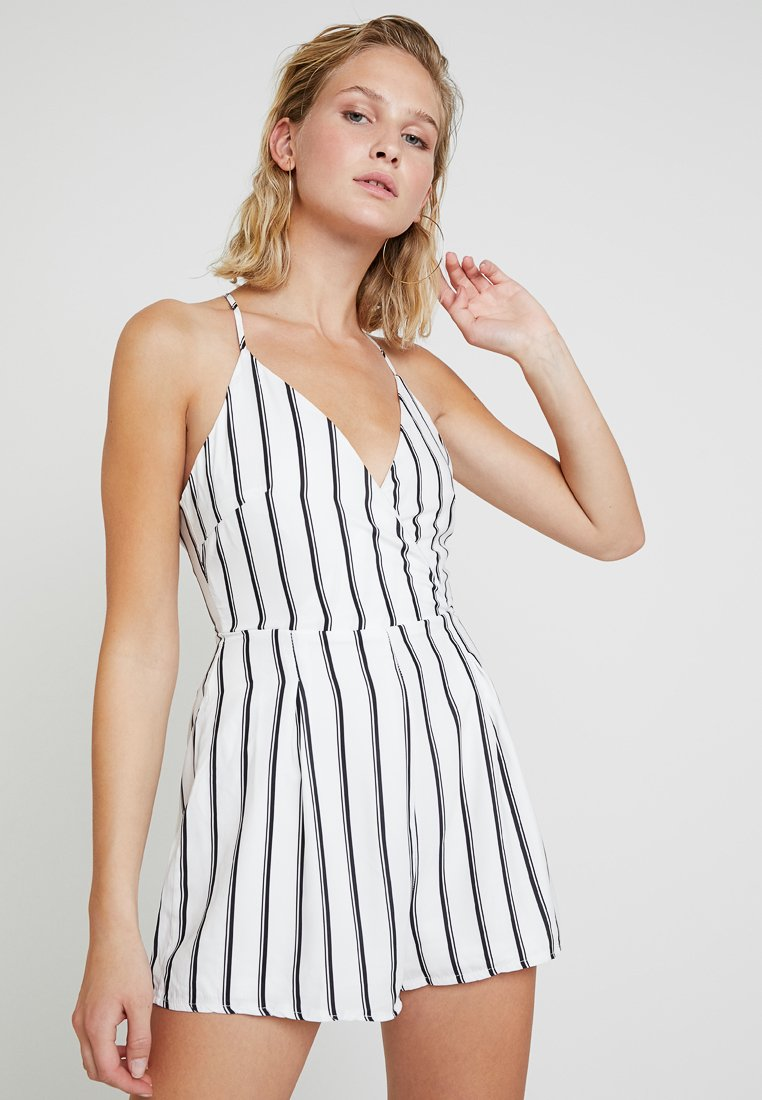Missguided - CAMI WRAP - Jumpsuit - white