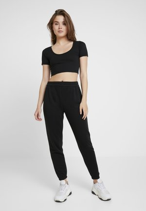 CROPPED AND BASIC SET - Tracksuit bottoms - black