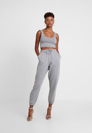 SCOOP NECK BRALET JOGGER SET - Tracksuit bottoms - grey