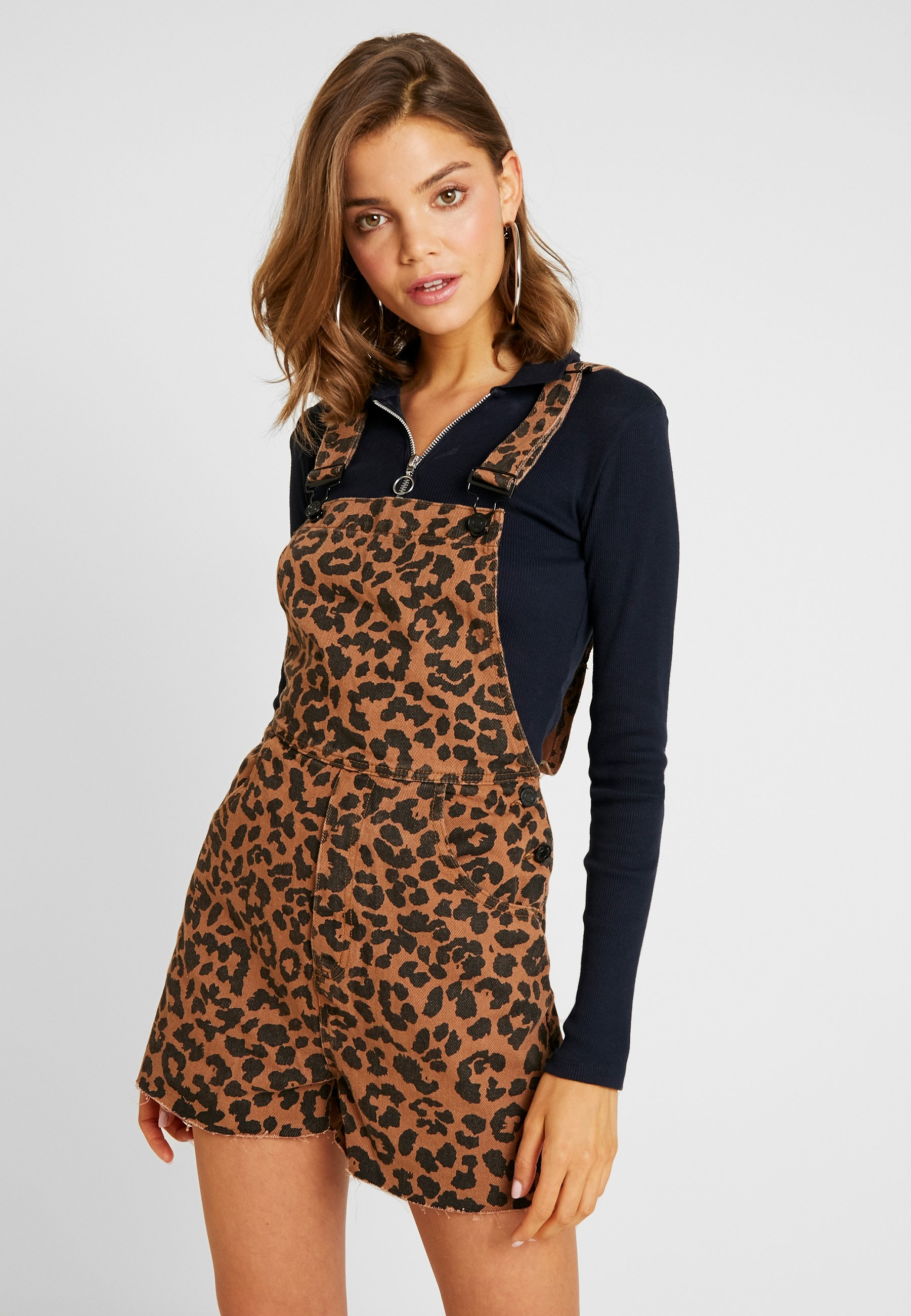 Leopard Missguided Brown DungareeSalopette Missguided Leopard DungareeSalopette Brown Missguided 5uJc3TFKl1