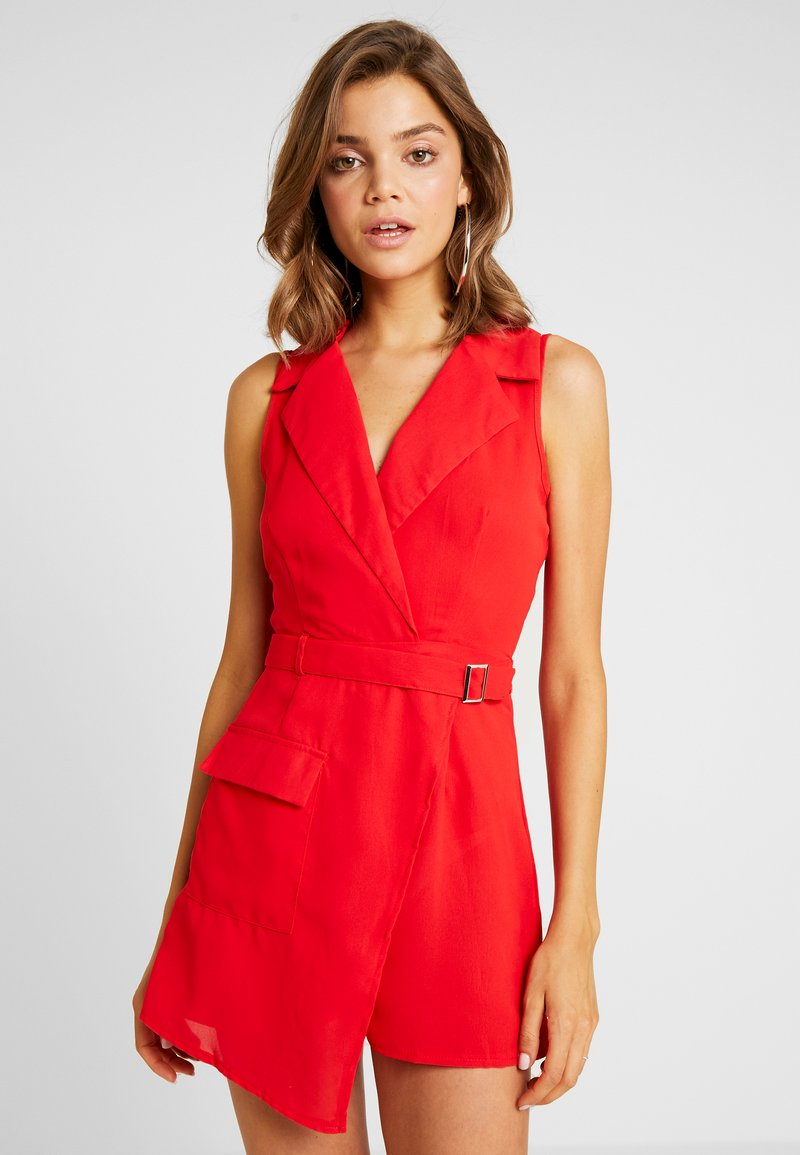 Missguided - UTILITY SKORT - Jumpsuit - red