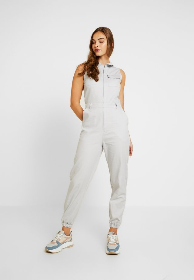 SLEEVELESS UTILITY - Jumpsuit - light grey