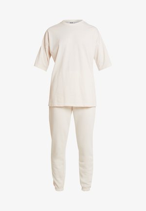JOGGER SET - Pantalones deportivos - stone