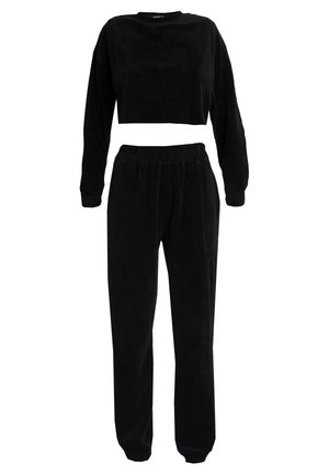 CROPPED AND CUFFED JOGGERS SET - Træningsbukser - black