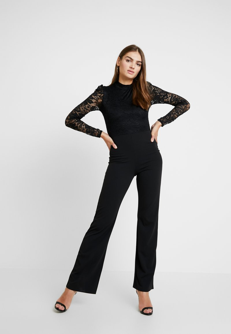 Missguided - FRIDAY BODICE LONG SLEEVED - Jumpsuit - black