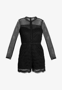 Missguided - FRIDAY LONG SLEEVED PLAYSUIT - Tuta jumpsuit - black - 4