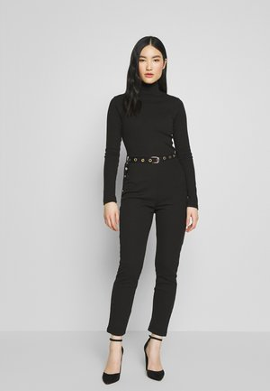 HIGH NECK BELTED LONG SLEEVE - Overall / Jumpsuit - black