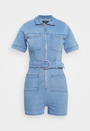 SELF BELTED PLAYSUIT - Overall / Jumpsuit /Buksedragter - light wash