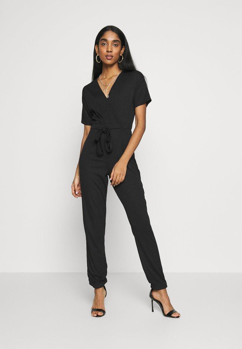 Missguided - WRAP JUMPSUIT - Tuta jumpsuit - black