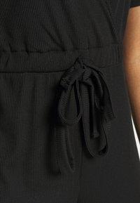 Missguided - WRAP JUMPSUIT - Tuta jumpsuit - black - 5