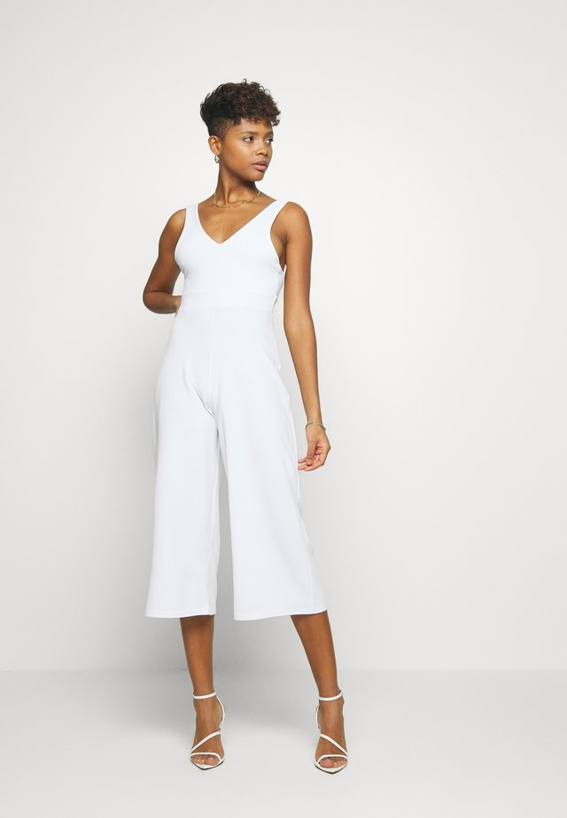 PLUNGE WIDE LEG  - Jumpsuit - white