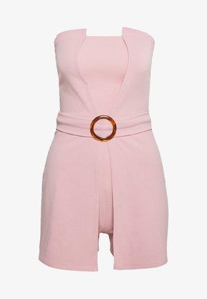 BANDEAU BELTED PLAYSUIT - Tuta jumpsuit - pink