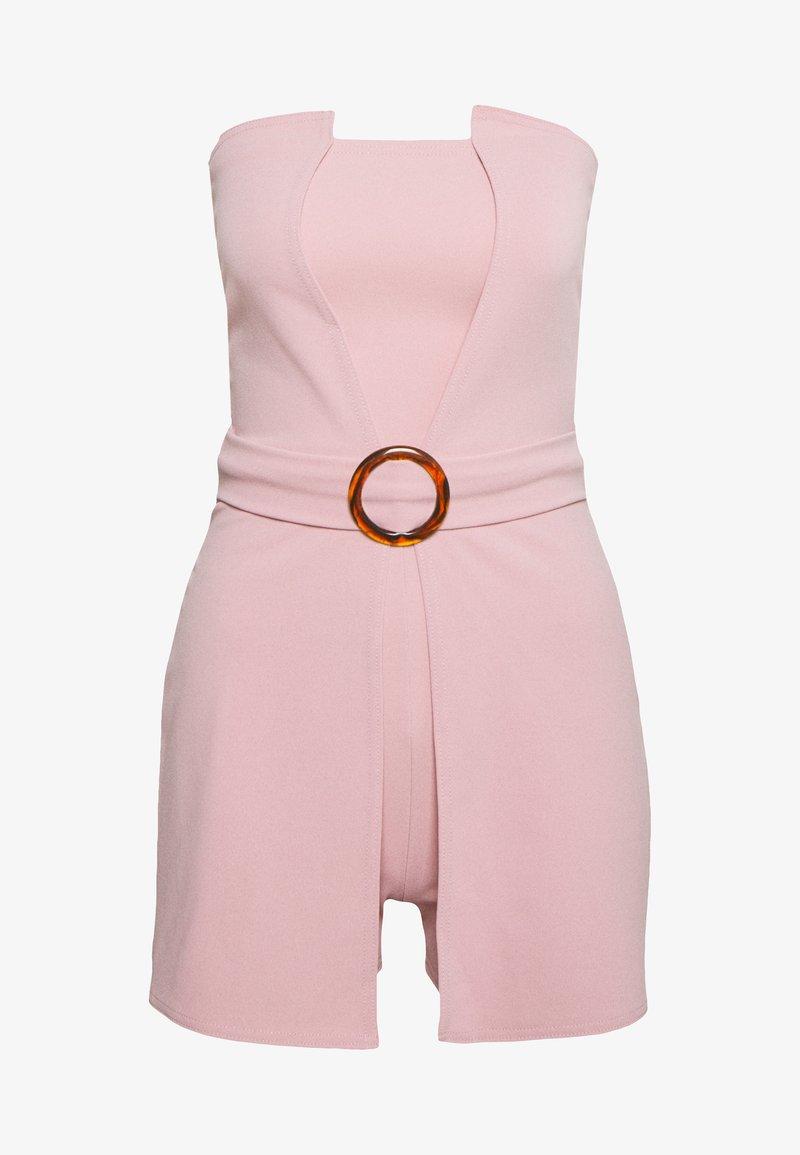 Missguided - BANDEAU BELTED PLAYSUIT - Jumpsuit - pink