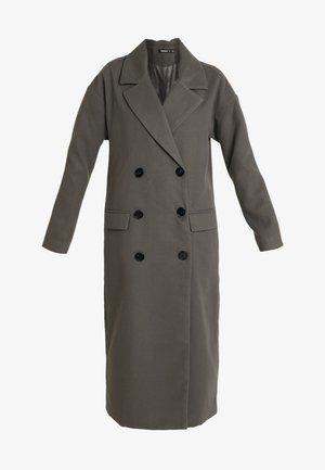 OVERSIZED DOUBLE BREASTED MIDAXI COAT - Zimní kabát - charcoal